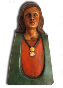 Hand Carved Wooden Sculpture 'Faith'
