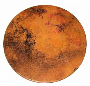 Hammered Copper Table Round Top
