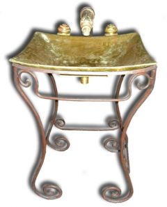 Bronze Sink Set 'Kyoto' incl. Pedestal and Faucets