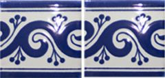Mexican Talavera Border Tile Frost Proof 'Berceo'