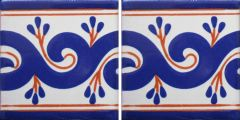Mexican Talavera Border Tile Frost Proof 'Sonsierra'