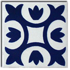 Mexican Talavera Frost Proof Tile 'Alatorre'