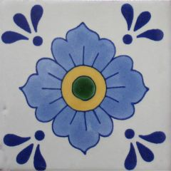 Mexican Talavera Frost Proof Tile 'Armenta'