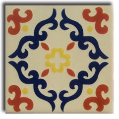 Mexican Talavera Frost Proof Tile 'Campeche'