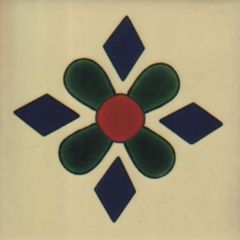 Mexican Talavera Frost Proof Tile 'Cansecos'