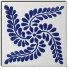 Mexican Talavera Frost Proof Tile 'Carrion'