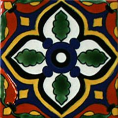 Mexican Talavera Frost Proof Tile 'Condal'
