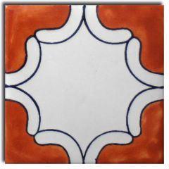 Mexican Talavera Frost Proof Tile 'Fortin'