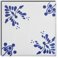 Mexican Talavera Frost Proof Tile 'Galindo'