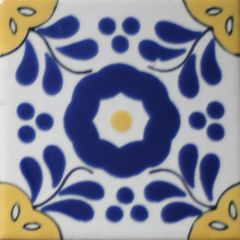 Mexican Talavera Frost Proof Tile 'Ixcapa'