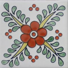 Mexican Talavera Frost Proof Tile 'Leon'