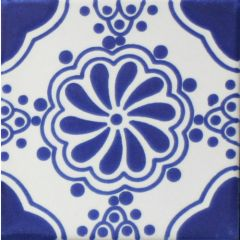 Mexican Talavera Frost Proof Tile 'Lorenzo'