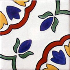 Mexican Talavera Frost Proof Tile 'Loyola'