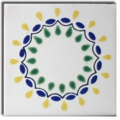 Mexican Talavera Frost Proof Tile 'Lucero'
