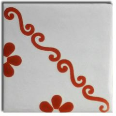 Mexican Talavera Frost Proof Tile 'Madero'