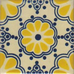 Mexican Talavera Frost Proof Tile 'Mechoacan'