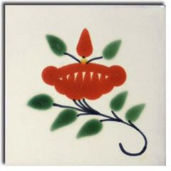 Mexican Talavera Frost Proof Tile 'Naranjal'