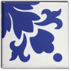 Mexican Talavera Frost Proof Tile 'Necaxa'