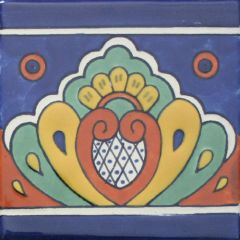 Mexican Talavera Frost Proof Tile 'Ordaz'