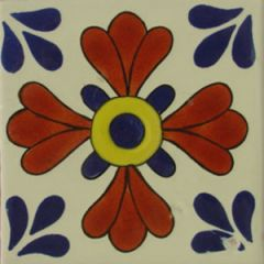 Mexican Talavera Frost Proof Tile 'Quiane'