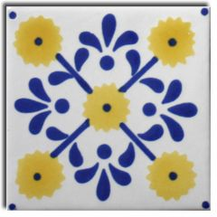 Mexican Talavera Frost Proof Tile 'Roble'