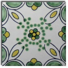 Mexican Talavera Frost Proof Tile 'Tempoal'