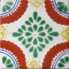 Mexican Talavera Frost Proof Tile 'Tulum'