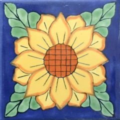 Mexican Talavera Frost Proof Tile 'Valle'