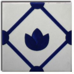 Mexican Talavera Frost Proof Tile 'Vigas'