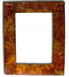 Mexican Copper Mirror 'Hammered Diamond'