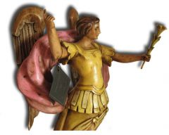 Hand Carved Wooden Angel 'Encourage'