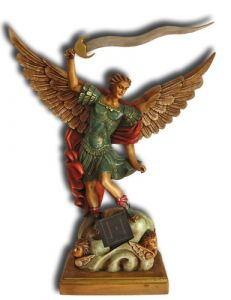 Hand Carved Wooden Angel 'Protect'