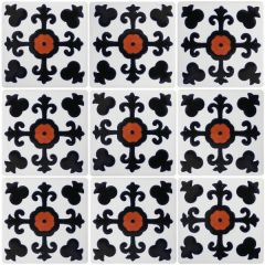 Mexican Talavera Frost Proof Tile 'Tres Valles'