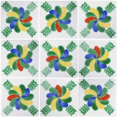 Mexican Talavera Frost Proof Tile 'Pineda'