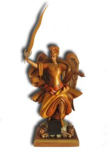 Hand Carved Wooden Angel 'Honor'