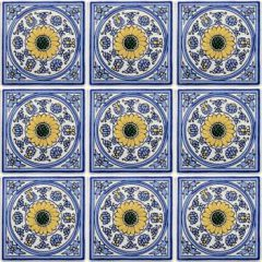 Mexican Talavera Frost Proof Tile 'Allende'