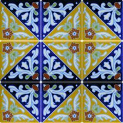Mexican Talavera Frost Proof Tile 'Anaya'