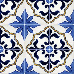 Mexican Talavera Frost Proof Tile Flores