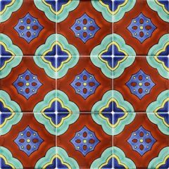 Mexican Talavera Frost Proof Tile 'Magdalena'