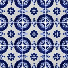 Mexican Talavera Frost Proof Tile 'Mesones'