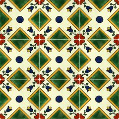 Mexican Talavera Frost Proof Tile 'Mision'