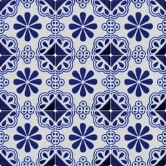 Mexican Talavera Frost Proof Tile 'Salina'