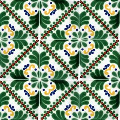 Mexican Talavera Frost Proof Tile 'Soto'